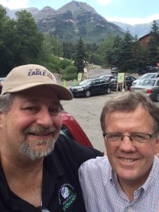 Visiting with Jonathan at Sundance Resort, July 2015