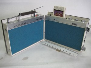 Folding 8 track player combo
