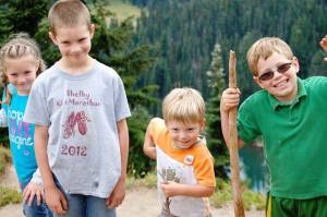 The Matthews kidz on a hike in Mt. Rainier National Park in 2015