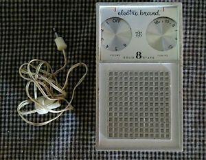 Pocket Transistor Radio and earphone