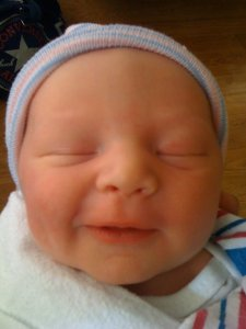 Rockwell shortly after he was born in 2010