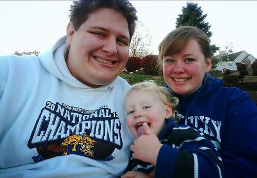 Holly, Seth and Rockwell are True Blue Kentucky fans