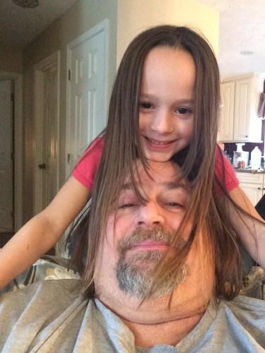 Giving Grampz long hair