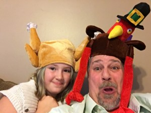 "Joined my granddaughter Autumn in the tradition of a Thanksgiving ""Turkey Hat"""