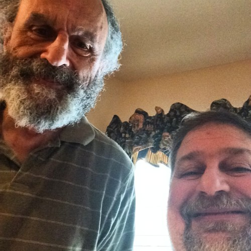 A selfie with Dad taken in Keller, Texas in July 2014