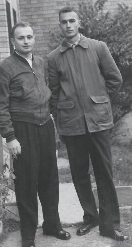 Joe with his brother Lou in 1957
