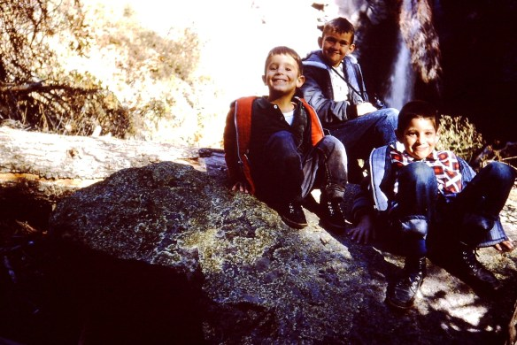 With my brothers Danny and Aaron. I love this photo of us, likely in Jemez Springs, NM