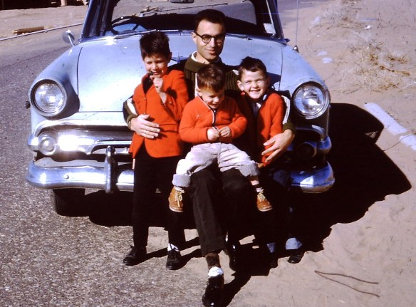 Joe with David, Aaron and Danny in 1963 or 64 (in Albuquerque)