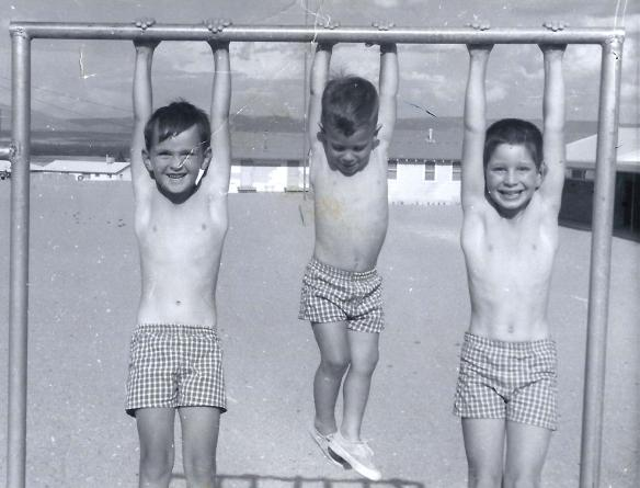 Hanging around with my brothers Danny and Aaron in 1963.