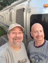 Visiting Al Luminum and his Airstream on a 2015 visit to Lexington.