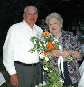Arlene and Maury at the triple wedding reception of my three daughters in 2005