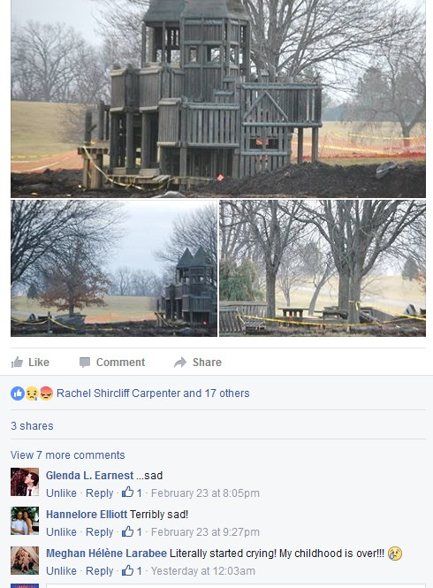 Some comments from a different Facebook post show the sadness