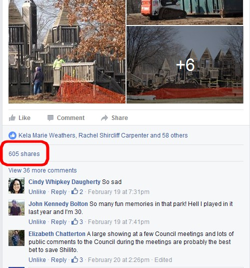 Outcry as seen on Facebook. Over 680 shares from my Feb. 18 post
