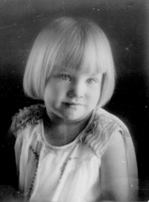 Arlene as a young child