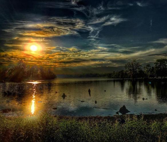 Sunset at Jacobson Lake