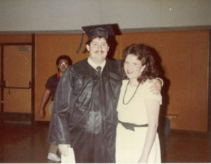 David in 1984 at NAU Graduation