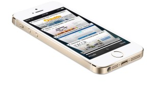 Apple iPhone 5s with Internet Screens showing