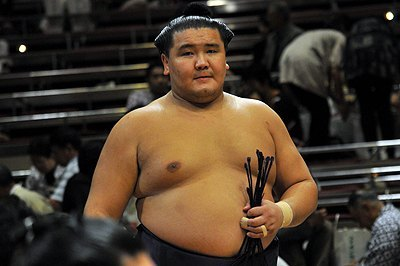 El mongol Shotenro volverá a la división Juryo para el torneo de marzo (Foto: Martina Lunau)