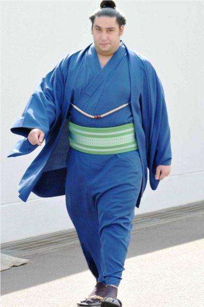 El brasileño Kaisei fue el gran protagonista de la jornada con su victoria ante el Ozeki Terunofuji (Foto: Martina Lunau)