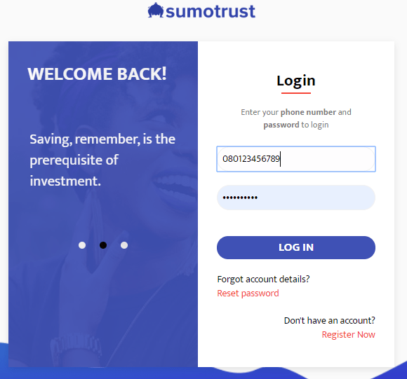 sumotrust login