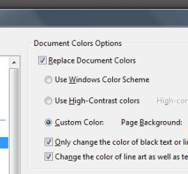 Adobe Reader Colors