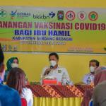 Wabup Sergai Tinjau Pencanangan Vaksinasi Ibu Hamil