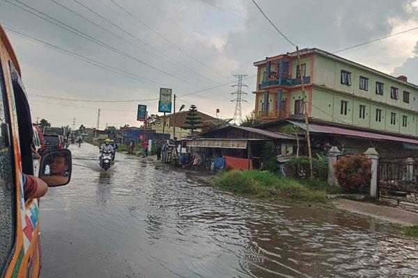 Langganan banjir di jalan Kabanjahe-Brastagi