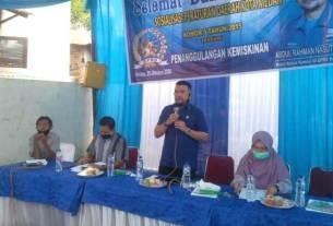 SOSIALISASI: Anggota DPRD Medan, Abdul Rahman Nasution saat Sosialisasi Perda No 5 Tahun 2015.istimewa/sumut pos.