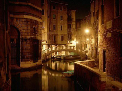 Late Night Canal Venice Photo On Sunsurfer