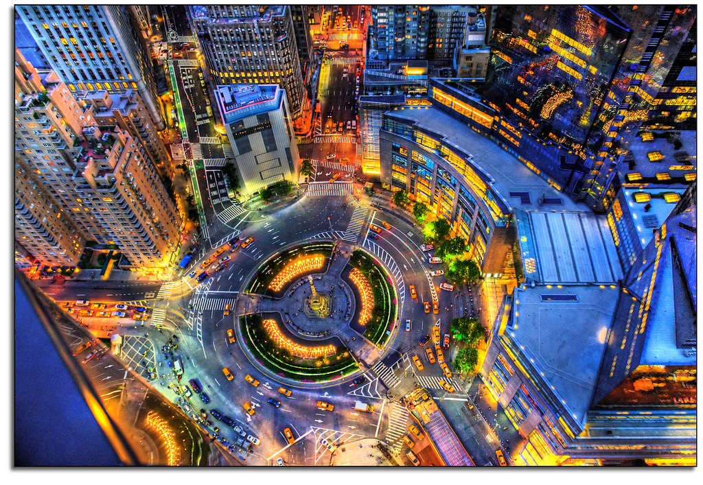 Birdseye View Of Columbus Circle New York City Photo On