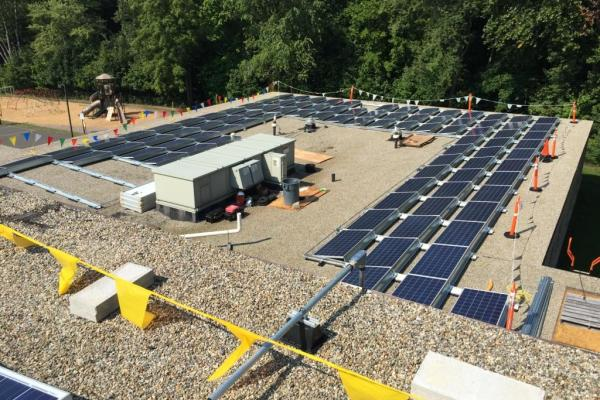Commercial Solar Panel Installation on School in Connecticut