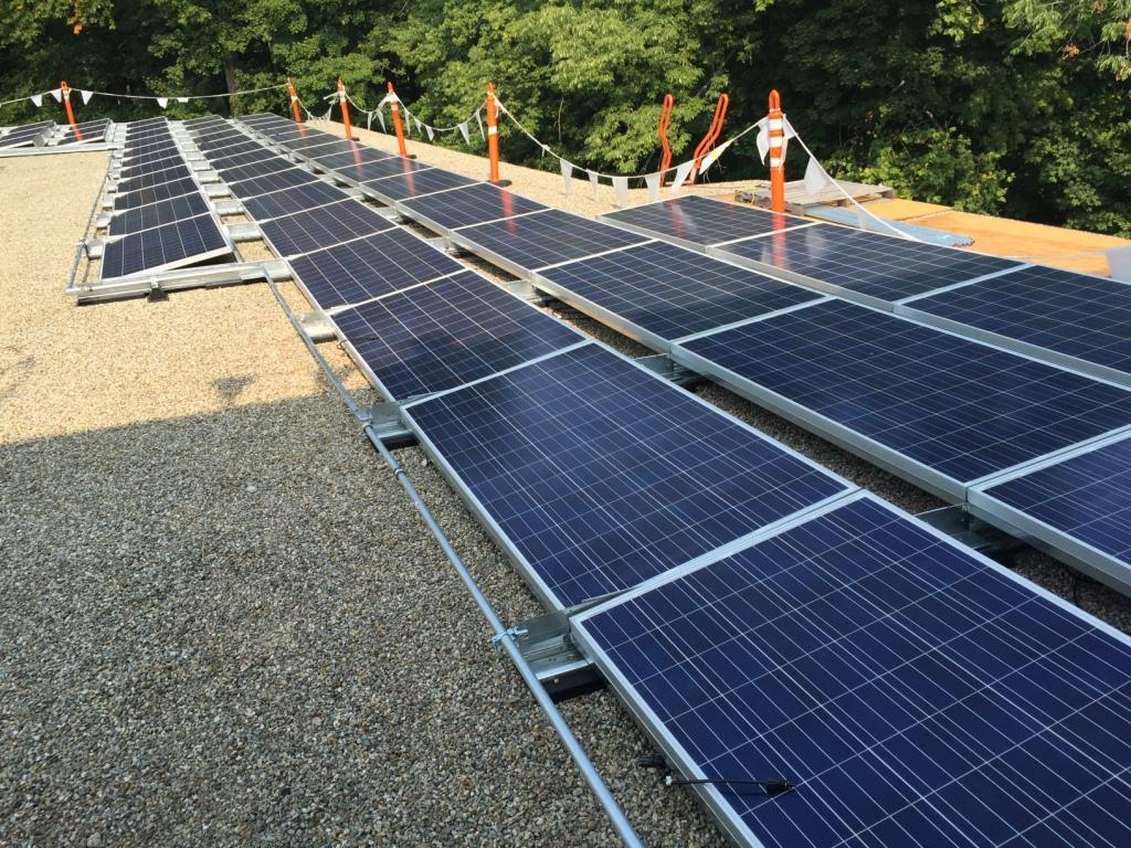 Commerical Solar Panel Installation on-School Connecticut