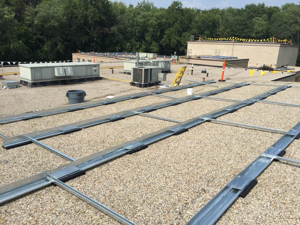 Commercial Flat Roof Solar Panel Installation Connecticut