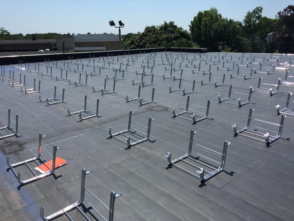 Solar-Power System Installer Racking_on-Flat-Roof Connecticut