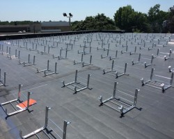 Rough Layout - Whalley-Solar-Racking_on-Flat-Roof