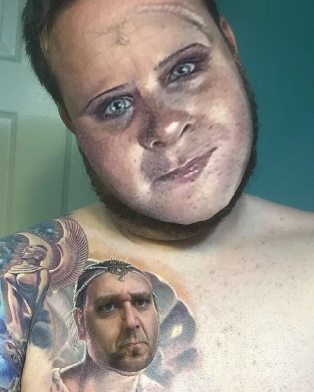 Когда поменялся лицами со своей татуировкой