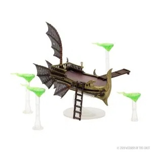 The Eberron skycoach and soarsleds, by WizKids