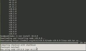 nodeのバージョンを上げる