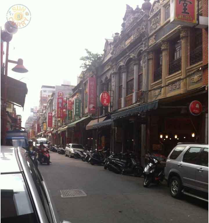 Dihua-Street mit alten Häusern