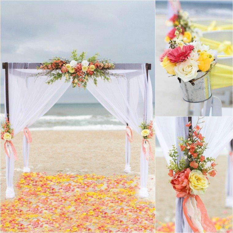 4 Post Wooden Arbor Sun Amp Sea Beach Weddings