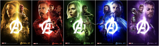 New Avengers: Infinity War posters