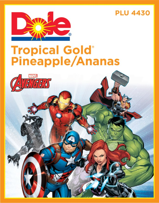 Dole Pineapple, now fortified with Marvel super powers!