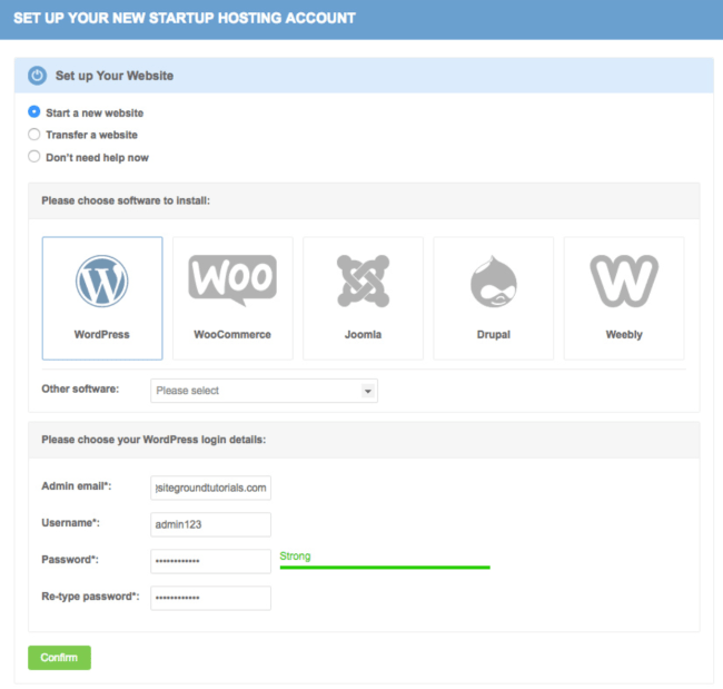 Start your new WordPress blog with these easy steps on Site Ground