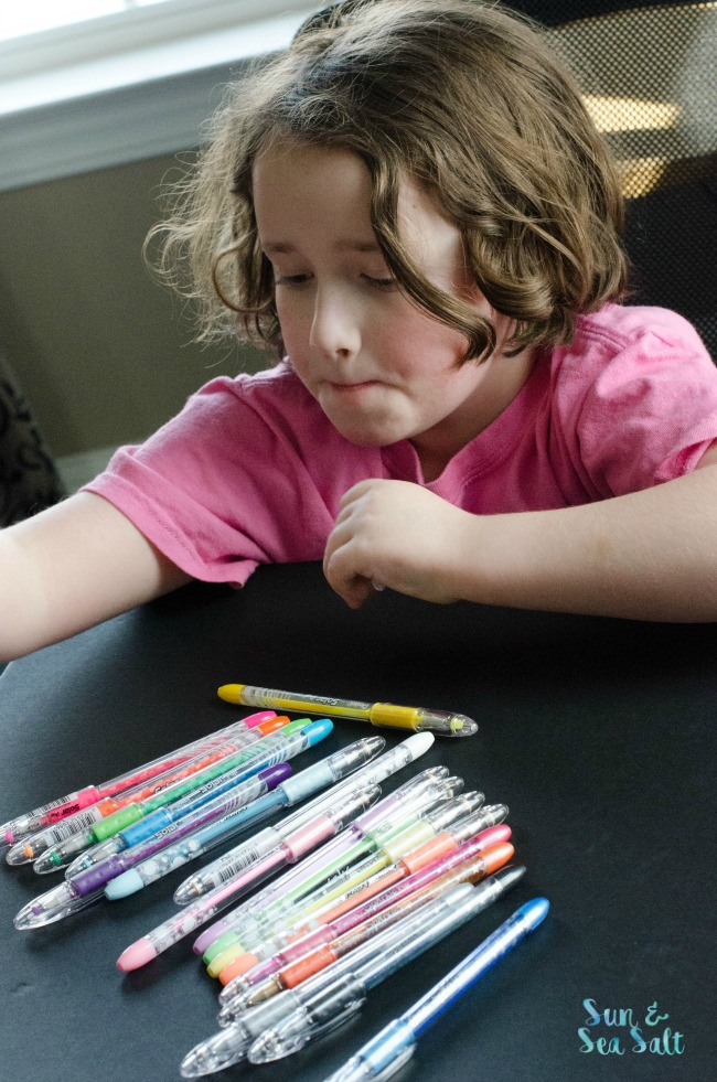 Kids are loving the new Pentel Color POP milky, sparkle, and solar ink pens