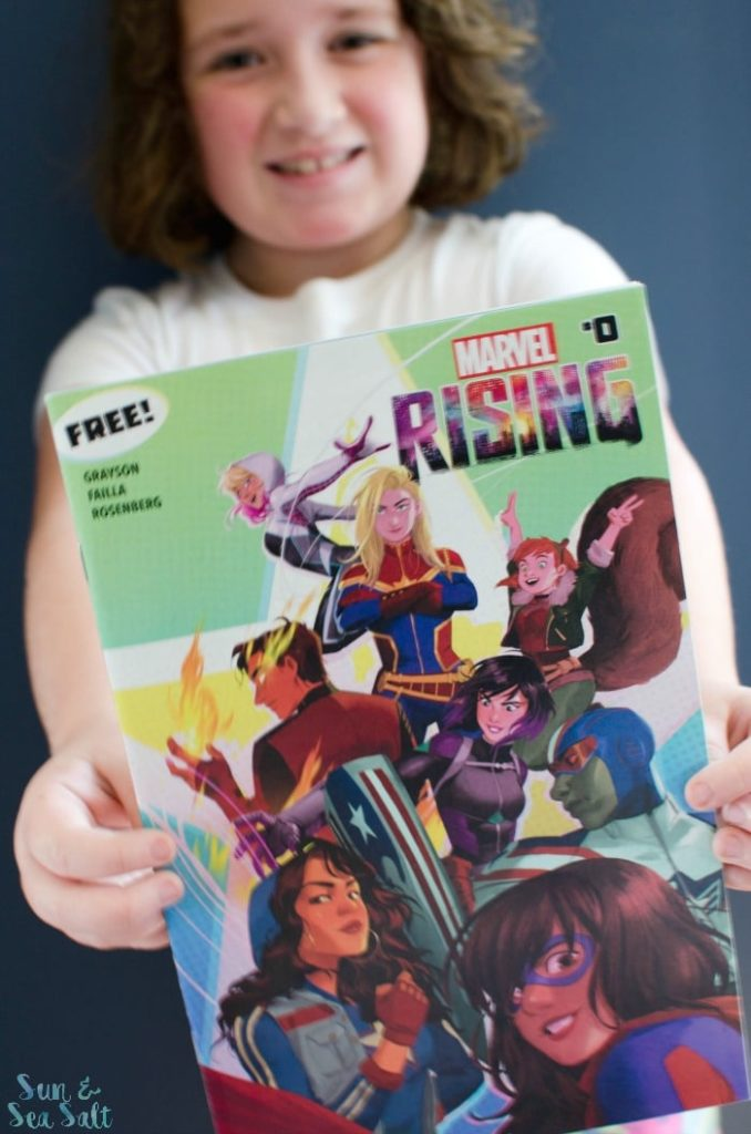 The Marvel Rising comic books, tv series, and more for young girls