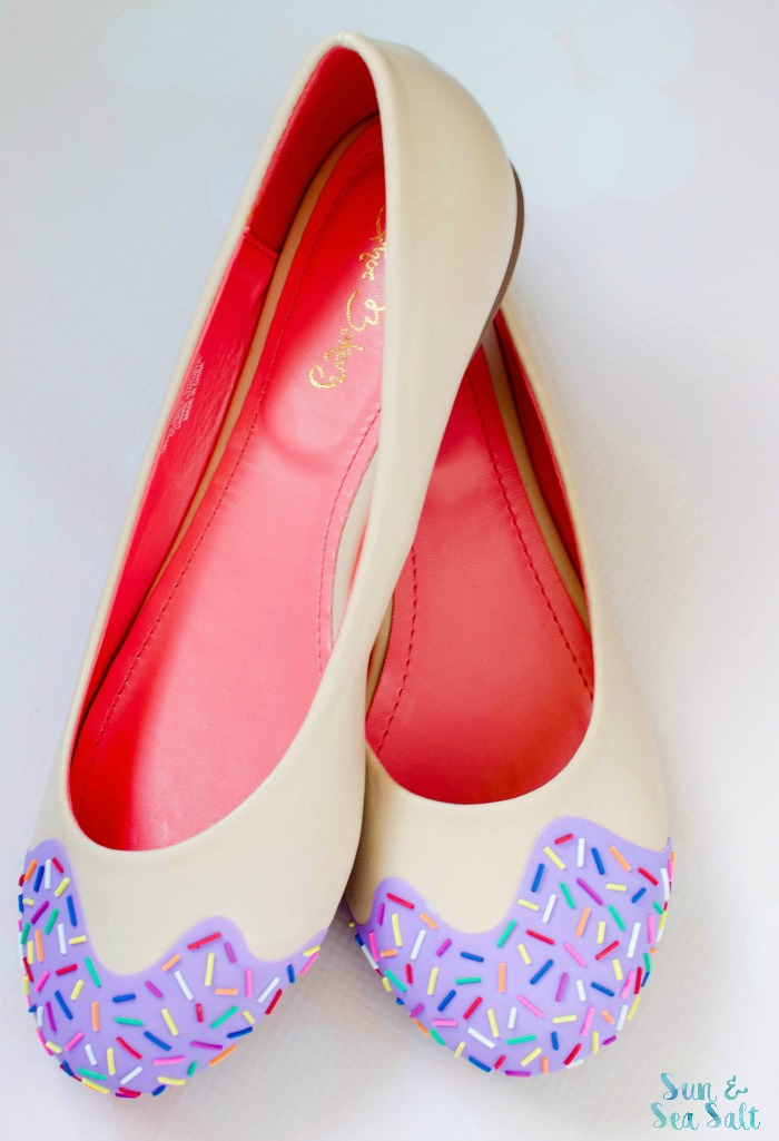 Lavender scented Jimmie Sprinkle Flats from Shoe Bakery