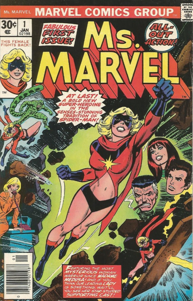 First comic book appearance of Carol Danvers as Ms. Marvel