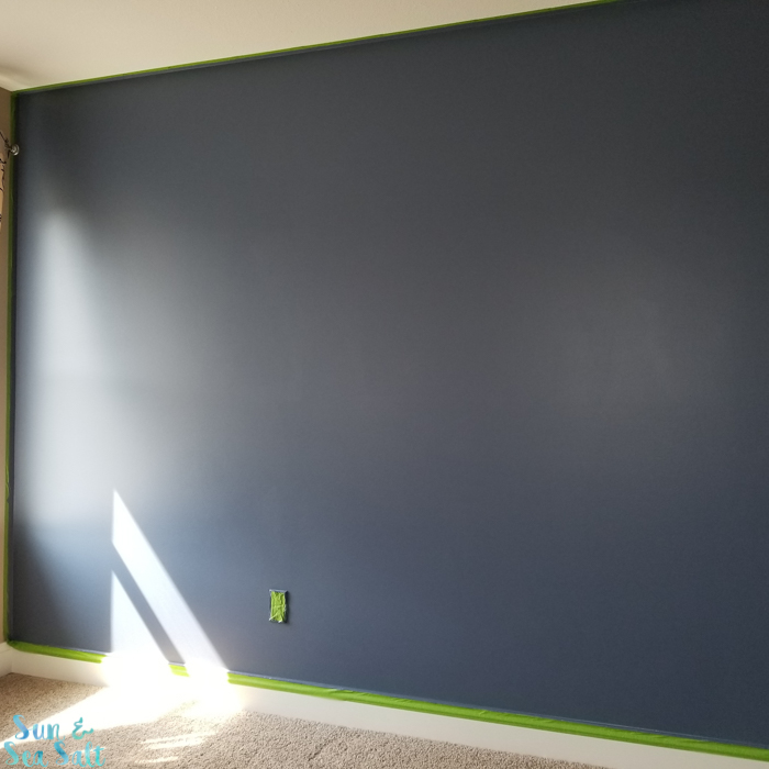Once the first wall was painted, I was in love!