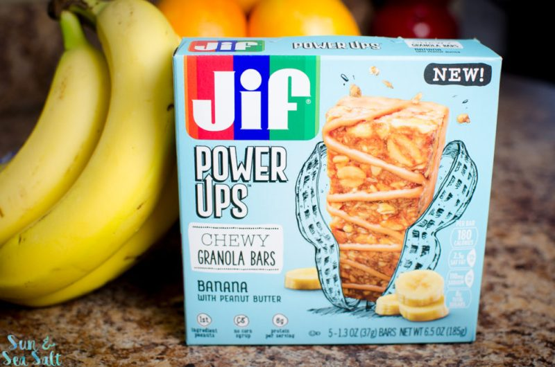 Jif Power Ups® are available in Chewy Granola Bars and Creamy Clusters with peanuts as the #1 ingredient.