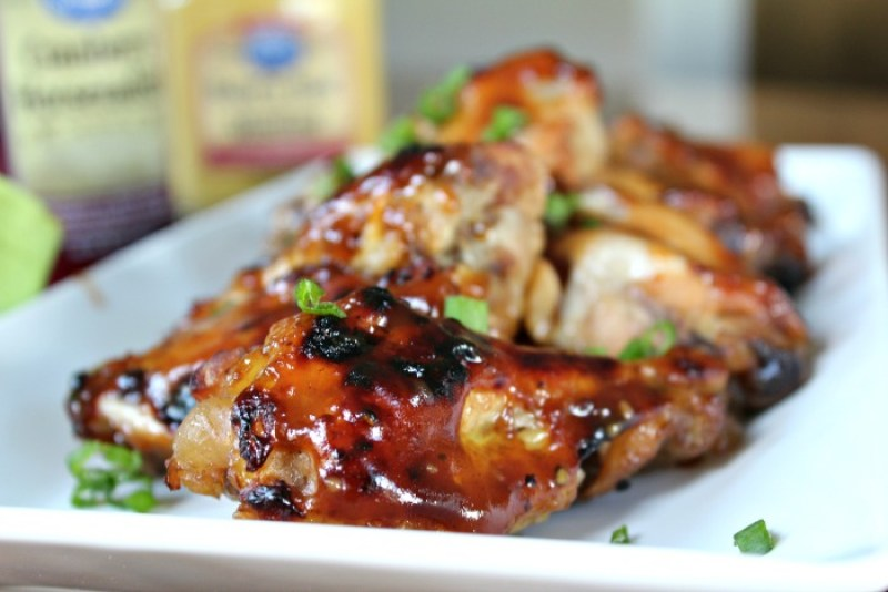 Slow Cooker Cranberry Chicken Wings